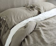 Linen sheet french linen  bed sheet  stonewashed  made by mooshop, $95.00
