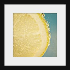 Art For Kitchen Lemon Slice 5x5 Fine Art Food by MarianneLoMonaco