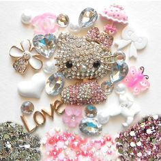 Pink Bling H Kitty Star Deco Diy Hard Case NOT A by AiPhoneCases, $35.00