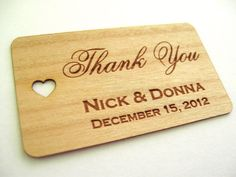 Gift Tags 50 / Wooden Tags / Wedding Favor Tags / by Talathiel, $17.00 or $30/100 tags. 3-4 wk for delivery.