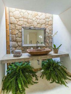 Unique Sinks For Bathroom Unique Sinks For Bathroom. Bad Inspiration, Bathroom Inspiration, Future House, My House, Bali House, Outdoor Bathrooms, Bathroom Interior Design, My Dream Home, Interior And Exterior