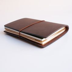 Midori Traveler's Notebook Leather Journal Brown - Omoi Zakka Shop