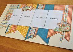 scrapbook generation: Debbie Sanders sketch layout for Saturday...