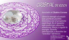 Cristal de Roca. Chakra Corona. #labrujuladecristal LA BRUJULA DE CRISTAL, Eva Lara