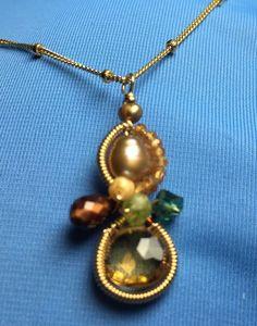 eaf03f6303cb Anna Balkan Baby Bella Real Gemstones n Pearls 14K Gold Filled Necklace   AnnaBalkanJewelry  GemstoneLongLayeringNecklace