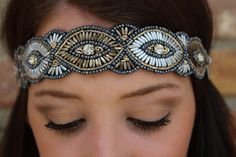 "Luna Boutique - ""Avery"" Pink Pewter Headband, $40.00 (http://www.shoplunaboutique.com/avery-pink-pewter-headband/)"