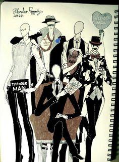 Five Brothers Slenderman,Sexual Offenderman,Splendorman,Tenderman and Trenderman