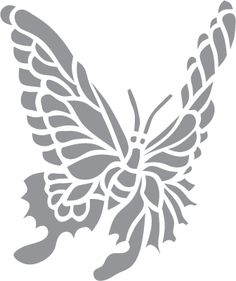 Glass etching stencil of Butterfly. In category: Other Wildlife