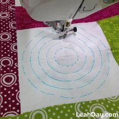 Machine Quilting Circles for Beginners