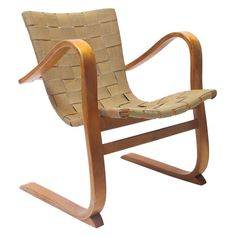Swedish Patronen Birch Easy Chair by G. Berg, for Shop with global insured delivery at Pamono. Small Wooden Stool, Wooden Stools, Scandinavian Modern, Modern Chairs, Rocking Chair, Cool Furniture, Vintage Designs, Mid Century, Lounge