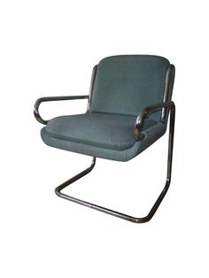 Dunbar Vintage Chrome Cantilever Lounge Chair on Chairish.com