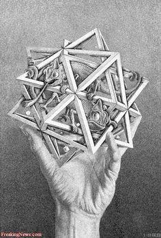 Escher Art pictures Advanced Photoshop Pictures Contest Sergio Mancisidor 01 ~Via Rita Lenaers Osh Art Gallery, Escher Art, Graphic Artist, Photoshop Pics, Art Drawings, Optical Illusions Art, Art, Funny Art, Art Pictures