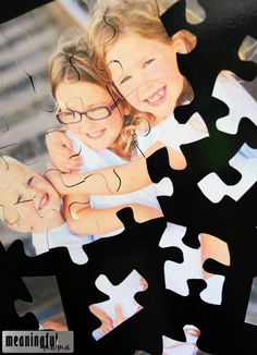 DIY Magnet Photo Puzzle for Refrigerator - Easy, Inexpensive and Fun Thing to Do with Family Photos. It's also a great DIY gift idea for grandparents, friends and family!