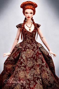 """It's not a cosplay, just the variation of Sansa's wedding dress in other colors for our customer.  Original dress design by Michele Clapton (costumes designer of """"Game of Thrones"""")  Model - Koti - Iplehouse nYID Bianca  Outfit, wig, face-up by Amadiz Studio"""