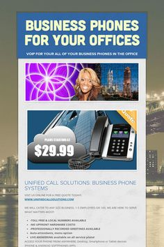 UNIFIED BUSINESS PHONE SYSTEM SOLUTIONS Trusted for your business phone operations - learn more about VOIP on all your business lines - Call today!