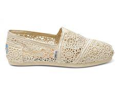 Natural Crochet Ivory Womens Classics Toms Shoes