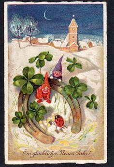 Gnomi Gnomes - Natale Christmas - Coccinella Ladybug - Viaggiata - FU868
