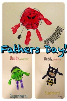 Father's Day handprint superheroes!