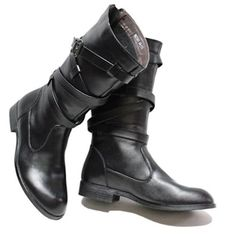 I have never tried such high boots before but they look stylish, like something from a few hundred years ago (my preference).    Personalized Black Goth Punk Western Cowboy Fashion Knee High Boots Men SKU-1100115