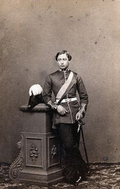 Albert Edward, the Prince of Wales who ater became King Edward VII