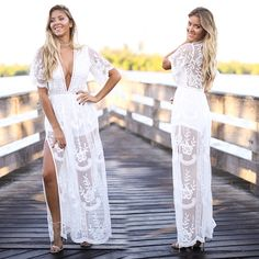 e1f741e36c1e Buy Affordable Boutique Long Maxi Dresses Online. Lace Maxi RomperWhite  Lace Maxi DressRomper ...