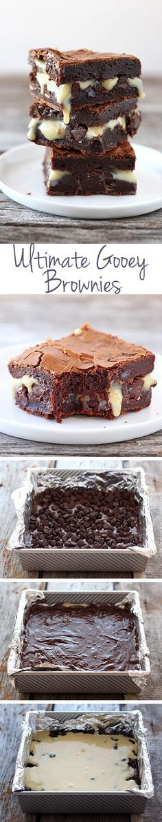 Oh my god, you guys. This recipe is ridiculous. Like straight up insanity. This baking adventure resulted in something so amazing and wonderful I just had to share as soon as I could. If you love chocolate, if you love brownies, if you love ooey and gooey, you're going to die over these Ultimate Goo...