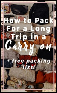 How to Pack for a Long Trip in A Carry On - Helene in Between