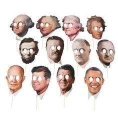 Buy American Presidents Face Masks - Set of 12 | Just £7.99 | Fancy Dress Head Gear