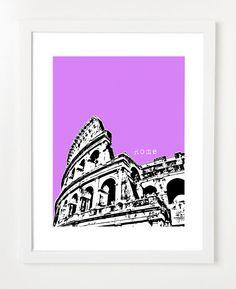 Rome Italy Art Print  City Skyline Series Posters  8x10 by birdAve, $20.00