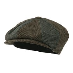9edb04fd518 Men s Wool Blend 8 Panel Cap - Brown - CM11GZABPYZ - Hats  amp  Caps