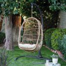 Shop for SBS Boho Patio Decor March Buy products such as Belham Living Bali Resin Wicker Hanging Egg Chair with Cushion and Stand at Walmart and save.
