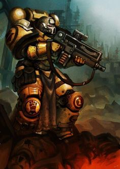 "captainblacklobster: ""The culture of the Imperial Fists articulates their genetically predisposed obsession with will power and pain into a coherent set of practices concerned with achieving uncompromising self-discipline and maintaining complete..."