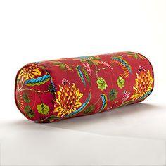 Red Indonesian Fruit Bolster Pillow | World Market
