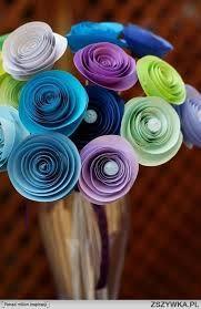 Znalezione obrazy dla zapytania kwiaty z papieru