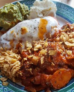 Fitness food inspiration for you guys. Reheated leftovers of the baked chicken enchilada with some goat cheese. Added some homemade guacamole and cream cheese.  My wife enjoyed it  I wasn't very hungry... #foodinspiration #cleaneats #fitness #protein #healthy #fitfam #gym #eatclean #cleaneating #foodporn #fit #gains #nutrition #health #lowcarb #veal #fitlife #healthyeating #healthyfood #healthyliving #gainz #recovery #fuel #macros #guacamole #gymlife #postworkoutmeal #enchiladas #homemade…