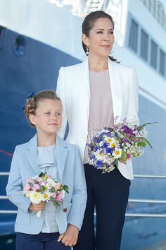 Royal Family Around the World: Crown Princess Mary & Princess Isabella Of Denmark Undertake Engagements On The Island Of Samso on June 6th, 2015 in Samso, Denmark