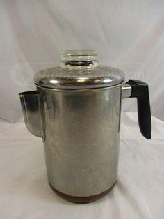 Vintage Ekcowear Percolator Coffee Maker Antiques Pots