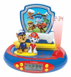 This cool Paw Patrol Radio Alarm Clock Projector features amazing sound effects, a built in night light and an FM radio! Free UK delivery available Paw Patrol, Fréquence Radio, Radio Alarm Clock, Radios, Lego Rubiks Cube, Cardboard Car, Projection Alarm Clock, Digital Projection, Night Light