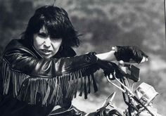 """""""Like an outlaw with a belief, To them it's the norm, For a man to conform, To a Godless society,  You bring the biker out in me.""""  -Chrissie Hynde"""