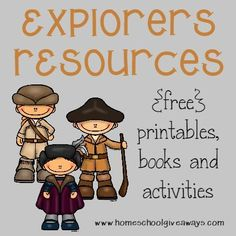 Winter is great time for kids to learn about different explorers. Use these {free} printables, books and activities to create a fun-filled Explorers unit and head off on your own explorations around the house! :: www.homeschoolgiveaways.com