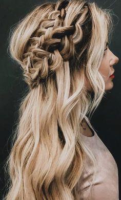 fishtail crown long braids || hair ideas