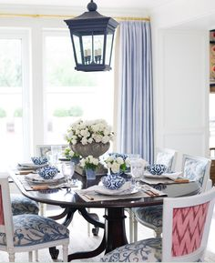 Dining room inspiration.  Love the light fixture