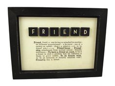 East of India Framed Friend Picture With Dictionary Text Best Friend Gift Idea   eBay