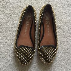 Jeffrey Campbell. Martini. Gold Studded Loafers. Excellent condition, worn once.   no trades ✖️ no holds  offers considered through the offer button ♻️ if it's listed, it's available Jeffrey Campbell Shoes Flats & Loafers