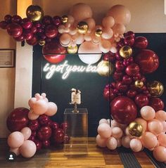 A christening fit for a Prince by non other than at the stunning balloons… Quince Decorations, Gold Party Decorations, Decoration Table, Birthday Balloon Decorations, Birthday Balloons, Balloon Garland, Balloon Backdrop, Diy Garland, Deco Ballon