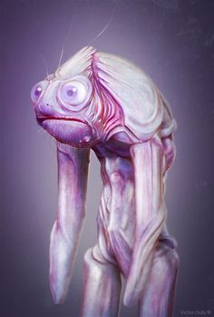 Weird frog, quick sculpt. Zbrush/Photoshop | © Victor Gully