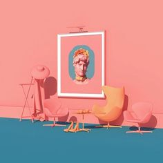 Colorful Surreal Scenes By Artist Lee Sol Hymen, 3d Artwork, 3d Prints, Monochrom, Cultura Pop, Artists Like, Installation Art, Art Direction, Color Inspiration