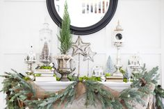 holiday guest post // holiday mantle craft from candice stringham. | Love Taza