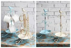 Distressed Metal Hook Stands
