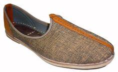 Handmade Leather and Jute Mojari Men Flats khussa shoe Maharaja Juti jooti juti US 7 / 8 / 9 / 10 / 11